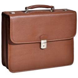 Skórzana teczka biznesowa mcklein ashburn 15144 na laptopa 15,4 męska brązowa - brązowy