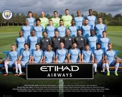 Manchester city drużyna zdjęcie 1617 - plakat