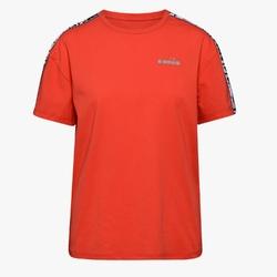 Koszulka damska diadora l. ss t-shirt plus be one - czerwony