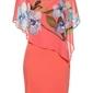 Sukienka ołówkowa z szyfonową narzutką bonprix koralowy - orchidee