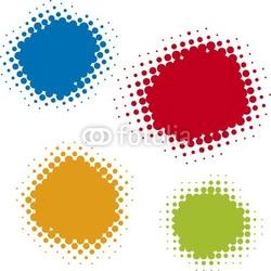 Obraz na płótnie canvas czteroczęściowy tetraptyk przesunięte kropki