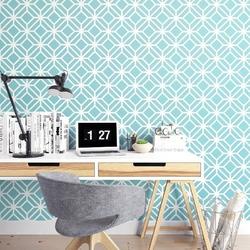 Turquoise stars - tapeta na ścianę , rodzaj - tapeta flizelinowa