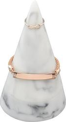 Stojak na biżuterię cone duży jasny marmur