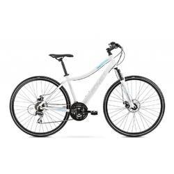 Rower crossowy romet orkan 1d 2021, kolor biały-niebieski, rozmiar 17