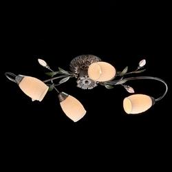 Lampa sufitowa verona wzór kwiatowy, białe klosze mw-light flora 334013504