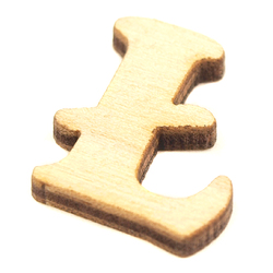 Drewniana literka do rękodzieła - Ł - Ł