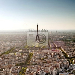 Fototapeta la tour eiffel depuis la tour montparnasse - paryż - francja