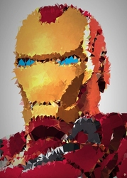 Polyamory - iron man, marvel - plakat wymiar do wyboru: 59,4x84,1 cm