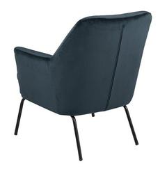 Tapicerowany fotel chisa vic navy blue