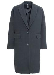 Płaszcz o-shape z materiału w optyce wełny, bonprix nocny niebieski