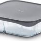 Pokrywka do naczynia żaroodpornego grand cru szara kwadratowa 24,5 cm