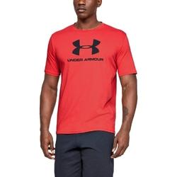 Koszulka męska under armour sportstyle logo ss - czerwony