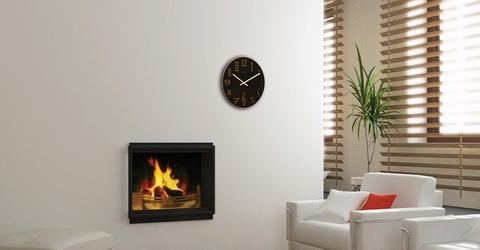 Zegar ścienny smoky mirror nextime 43 cm, czarny 2472 zw