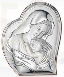 Ryngraf z powłoką srebra matka boska z dzieciątkiem svl810511l - ok. 10,7 cm  ok. 8,8 cm