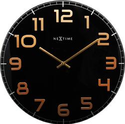 Zegar ścienny Classy Nextime 30 cm, czarno-miedziany 8817 BC