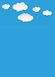 Tablica magnetyczna suchościeralna dla dzieci chmury 340