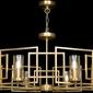 Żyrandol złoty do salonu geometryczna rama bowi maytoni h009pl-08g