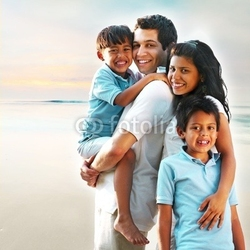 Board z aluminiowym obramowaniem malowniczy obraz rodzinny