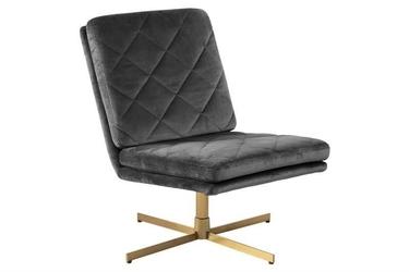 Obrotowy fotel biurowy z pikowanym siedziskiem carrera vic