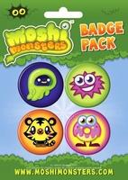 Moshi monsters moshlings - zestaw 4 przypinek
