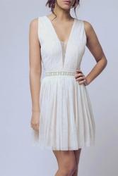Soky soka  sukienka biały 56005-2