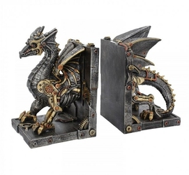 Dracus machina - podpórki do książek komplet 2 szt.