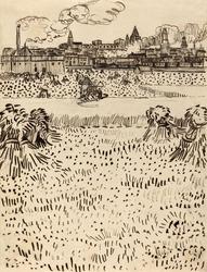 The harvest, vincent van gogh - plakat wymiar do wyboru: 60x80 cm