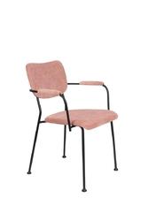 Zuiver krzesło z podłokietnikami  benson różowy 1200199