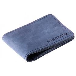 Skórzany cienki portfel slim wallet brodrene sw02n granatowy - granatowy