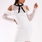 Soky soka  sukienka biały 49005-2