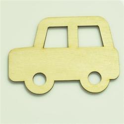 Drewniana dekoracja samochód - 7x9,5 cm - SAMO