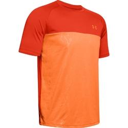 Koszulka męska under armour tech 2.0 ss emboss - czerwony