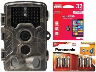 Foto-pułapka denver wct-8010 + karta pamięci goodram 32gb + baterie