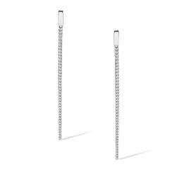 Staviori Kolczyki Srebrne wiszące łańcuszki linki 0,925.długość 60mm