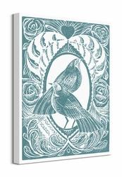 Love Birds - Blue - Obraz na płótnie