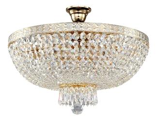 Lampa sufitowa kryształowa, złota bella maytoni classic dia750-pt50-wg