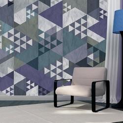 Fototapeta - niebieski patchwork