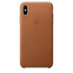 Apple etui skórzane iphone xs max - naturalny brąz