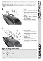 Stelaż kufra tył shad honda cbf 1000 - 1013