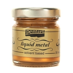 Farba ciekły metal 30 ml pentart - brązowa - brąz