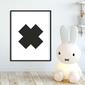 Scandi cross - plakat dla dzieci , wymiary - 18cm x 24cm, kolor ramki - biały