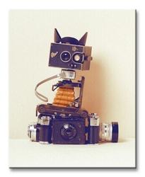 Robot cat - obraz na płótnie