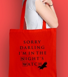 Straż nocna torba na zakupy czerwona universal