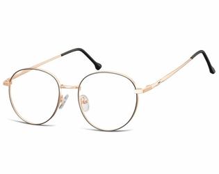 Okulary oprawki owalne lenonki optyczne 912b złoto - czarne
