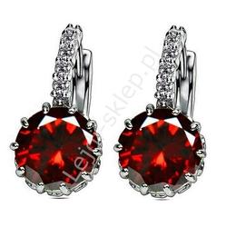 Kolczyki z kryształkami czerwone