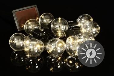 Lampki solarne żarówki 10 led światło ciepłe białe