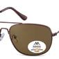Meskie okulary pilotki montana mp93d brazowe polaryzacyjne