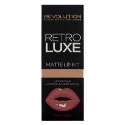 Makeup revolution retro luxe matte lip kits zestaw do ust konturówka +błyszczyk grandee 1op.