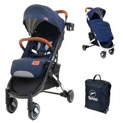 Fjessa sky comfort r granatowoczarny wózek do 25kg + folia + ocieplacz + moskitiera