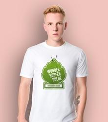 Wunderhopfen t-shirt męski biały l